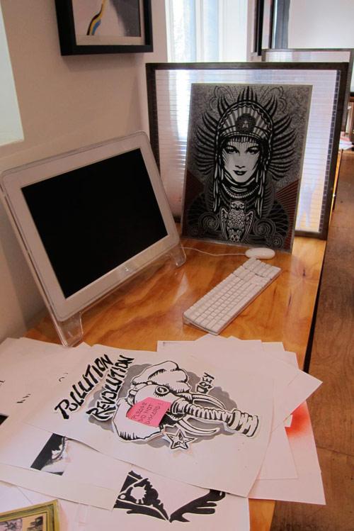 studio visit Shepard Fairey  (10)