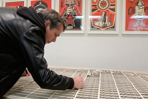 studio visit Shepard Fairey  (5)